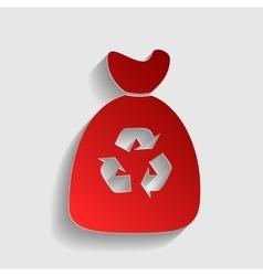 Trash bag sign vector image vector image