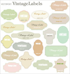 vintage labels - set vector image vector image