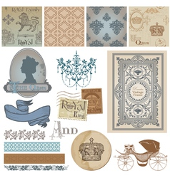 Design elements - vintage royalty set vector