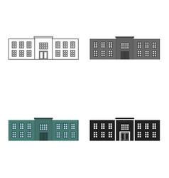 police station icon cartoon single building icon vector image