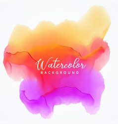 Abstract watercolor stain background in bright vector