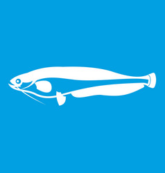 Atlantic mackerel scomber scombrus icon white vector