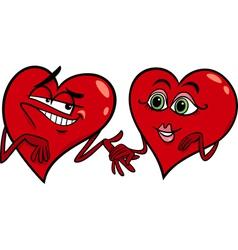 Hearts in love cartoon vector