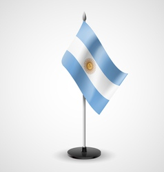 Table flag of argentina vector