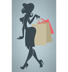 funny cartoon shopping vector image