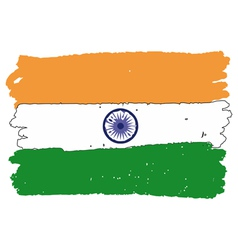 Flag of india handmade vector