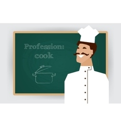 Occupation cook profession vector