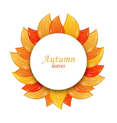 Greeting card with colorful leaves vector