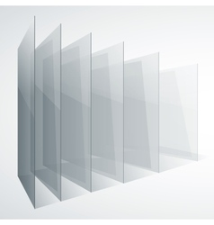 Perspective transparent glass siny gray abstract vector