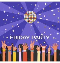 Friday youth party with lots vector image