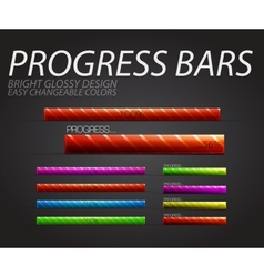 Progress bars vector