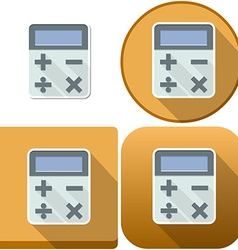 Calculator icon pack vector
