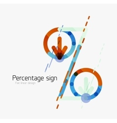Percentage sign background vector