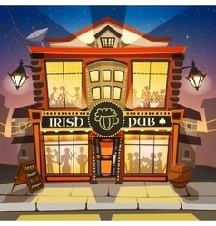 Irish pub cartoon vector