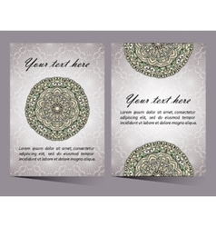 Ornaments collection with mandala circular pattern vector