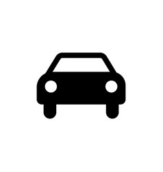 car icon black car sign transportation icon vector image