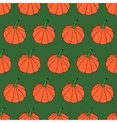 Cartoon halloween pumpkin pattern vector