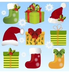 Christmas gift bow pattern vector