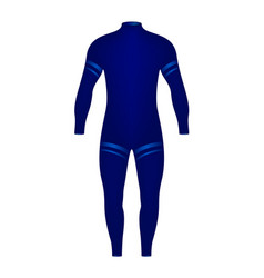 Diving suit in blue design vector