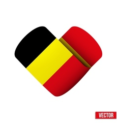 Flag icon in the form of heart I love Belgium vector image