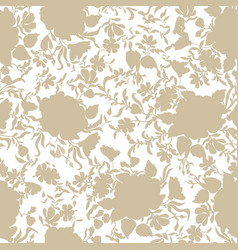 Floral seamless pattern flower rose silhouette vector