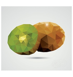 Geometric polygonal fruit triangles kiwi vector image vector image