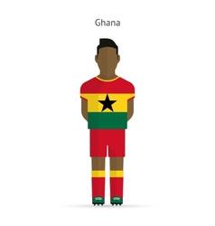 Ghana football player soccer uniform vector