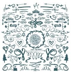 Hand drawn decorative doodles vector