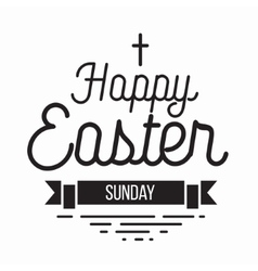 Happy easter typography design isolated on white vector