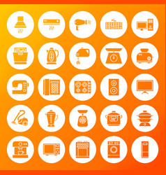 Household circle solid icons vector