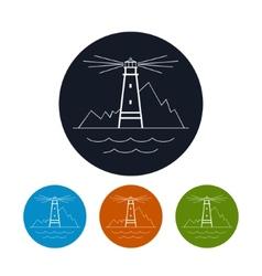 Icon lighthouse vector