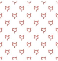 Intestine pattern cartoon style vector