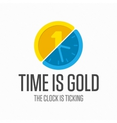 Logo watch with coin vector image vector image