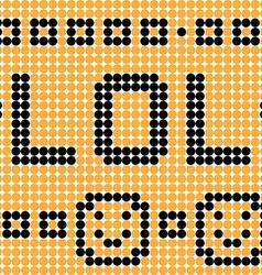 lol dots vector image