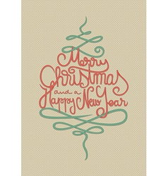Merry Christmas and a Happy New Year Card vector image vector image