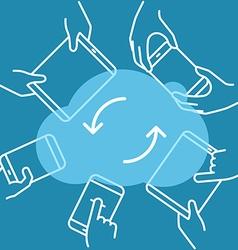 Modern cloud technology scheme technology concept vector image vector image