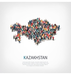 People map country kazakhstan vector