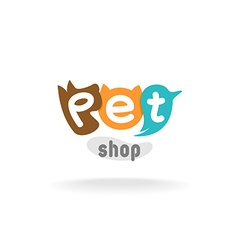 Pet shop logo template vector image vector image
