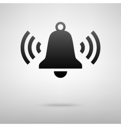 Ringing bell black icon vector