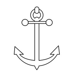 Sailing anchor icon image vector