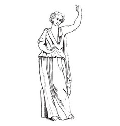 sibyl vintage vector image vector image