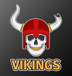 skull viking vector image vector image