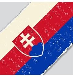 Slovak grunge flag vector