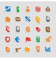 Sticker icons for business vector image vector image