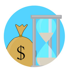 Time and money icon concept vector