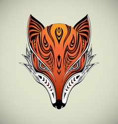 Tribal Fox 1 vector image vector image