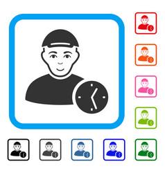 User time framed enjoy icon vector