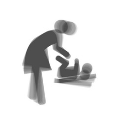 women and baby symbol baby changing gray vector image