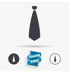 Tie sign icon business clothes symbol vector