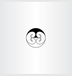 Kidney black icon sign vector